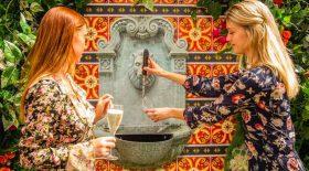 fontaine de prosecco en libre-service restaurant