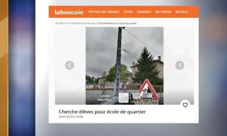 Une annonce passée sur Le Bon Coin en quête de nouveaux élèves