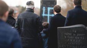 macron cimetière profané