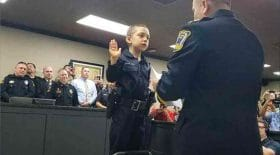 petite fille cancer devient policière