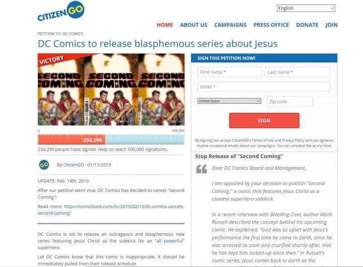 pétition bd jésus