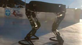 robot fait du patin à glace