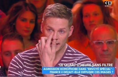 Matthieu Delormeau en larmes en parlant de l'homophobie