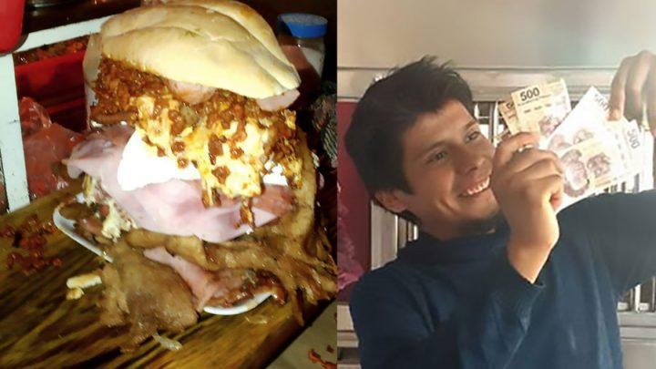 bat le record manger nourriture sandwich monstrueux