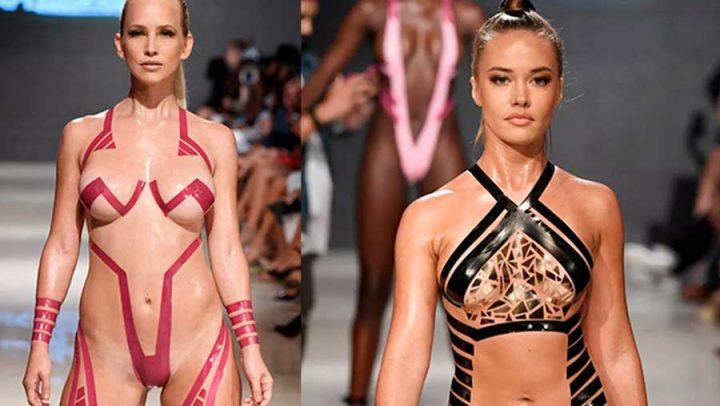 bikini en ruban adhésif tape