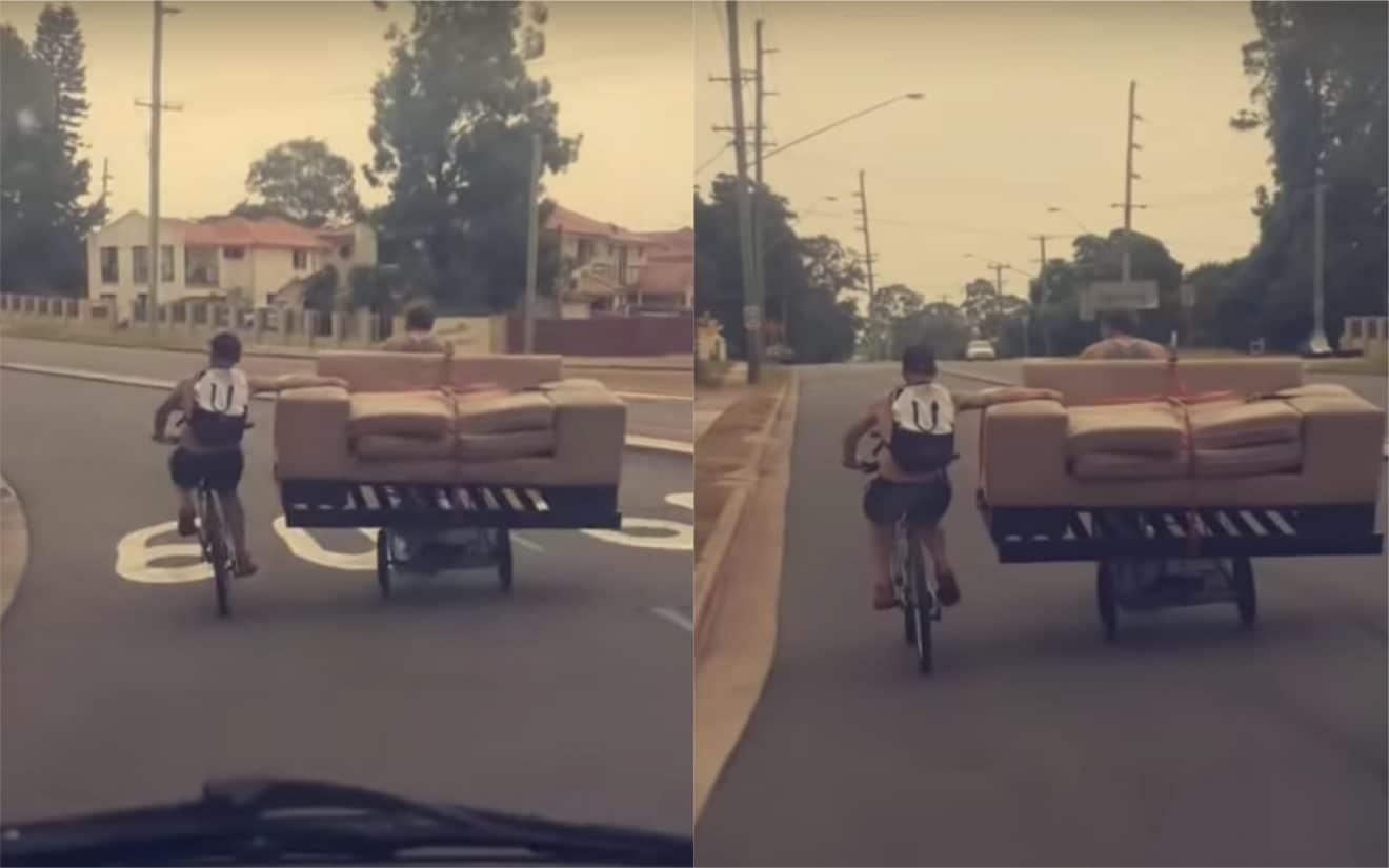 Ils ont trouvé la méthode pour transporter leur canapé sans camionnette (vidéo)