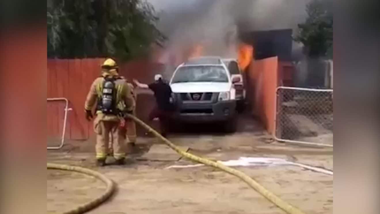 Il sauve son chien dans un incendie !