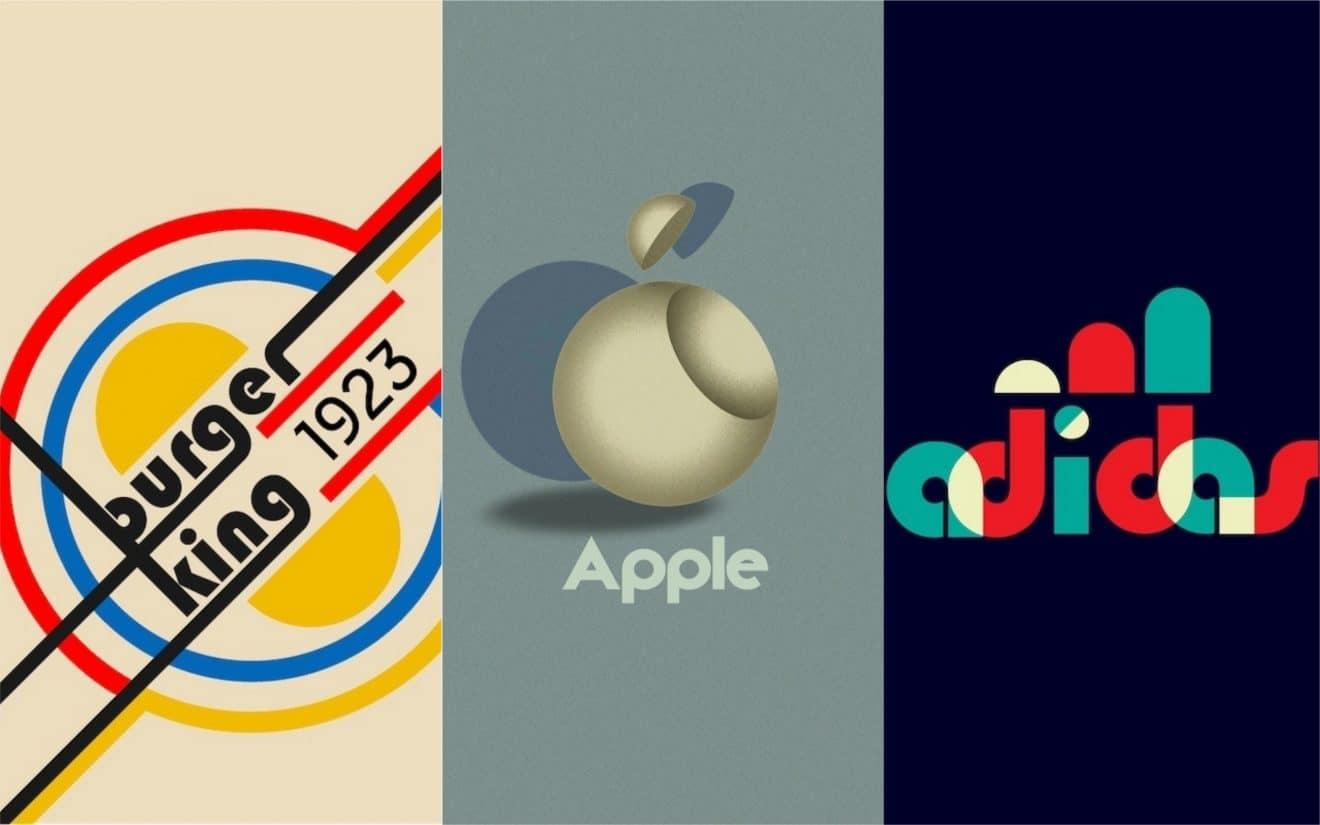 Ils revisitent les logos des grandes marques version vintage et Bauhaus