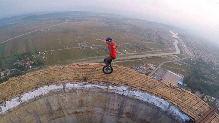 monocycle altitude vertige
