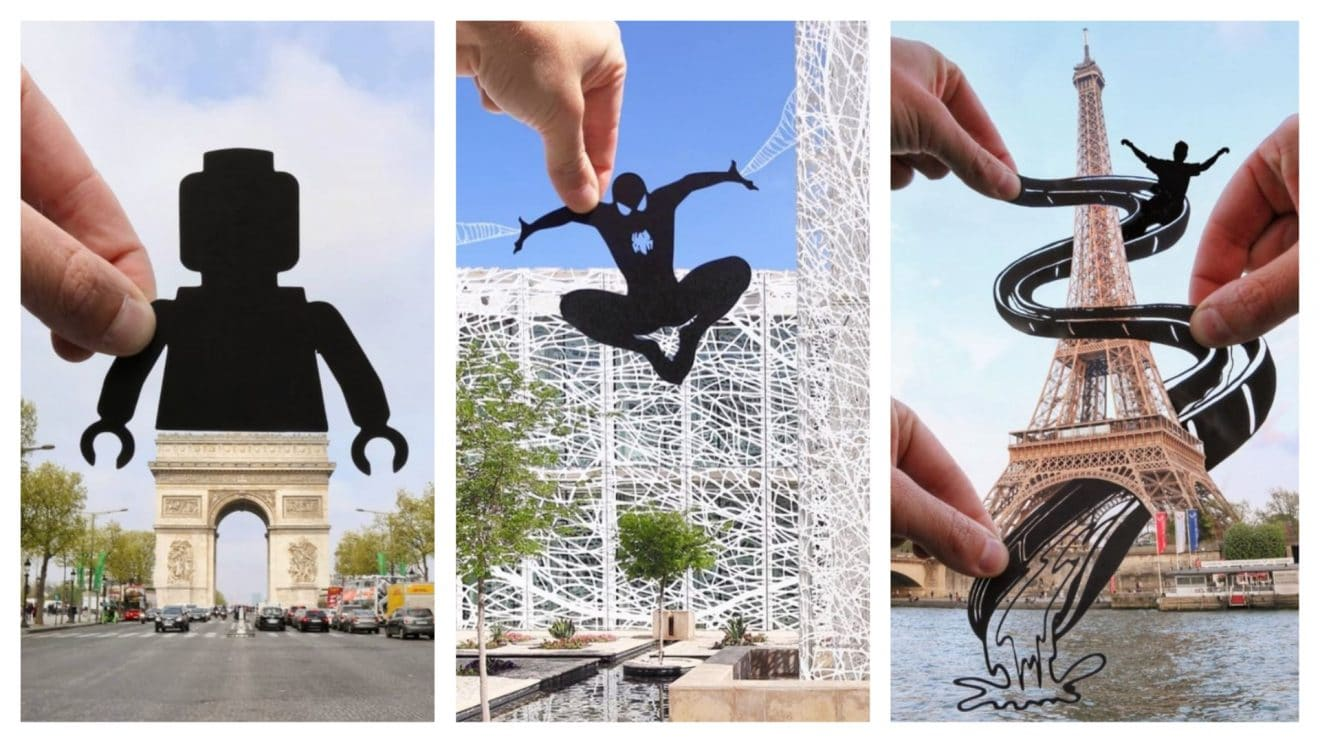 Ce photographe transforme notre monde grâce à de simples morceaux de papier
