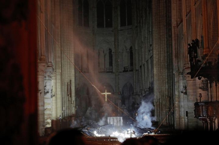 Notre-Dame de Paris brulée