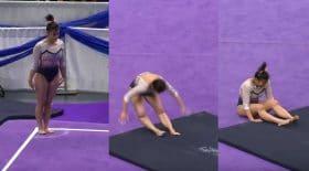 gymnaste se déboite les jambes