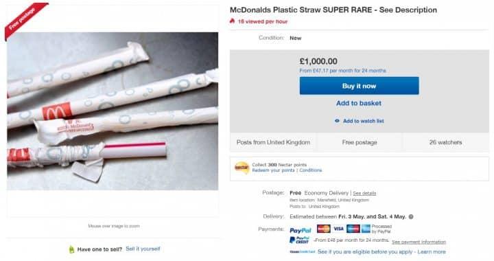 paille plastique ebay