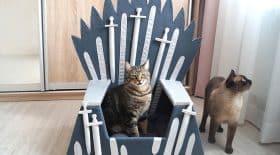 game of thrones panier pour chat trône de fer