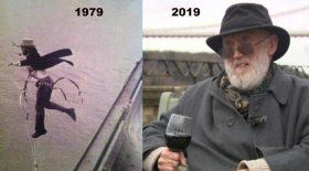 david kirke premier saut à l'élastique invention 1979