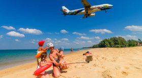 selfie plage avion atterrissage peine de mort