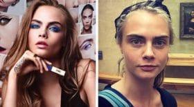 mannequins avec sans maquillage