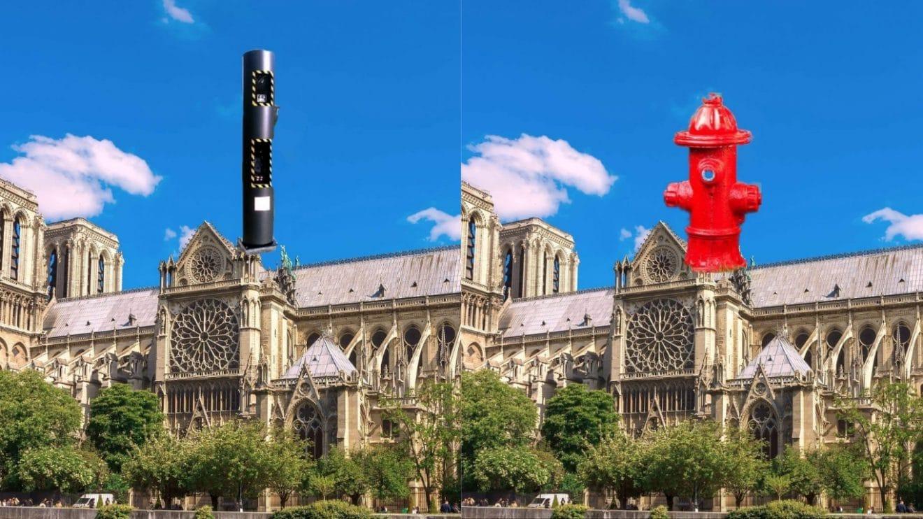 Radar, borne à incendie ou nokia 3310 : les internautes ont imaginé la nouvelle flèche de Notre-Dame