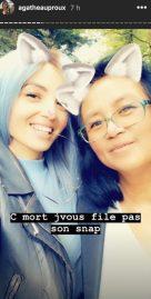 Le selfie d'Agathe Auproux et de sa mère