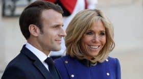 Brigitte Macron couple