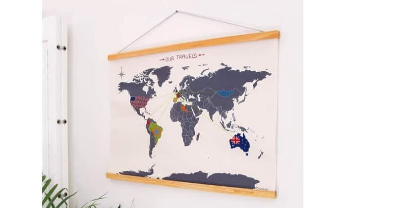 Fête des Mères : immortalisez ses voyages avec une carte du monde à broder