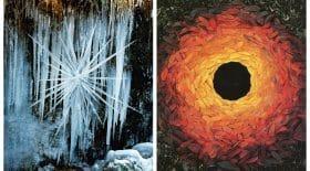 collage land art