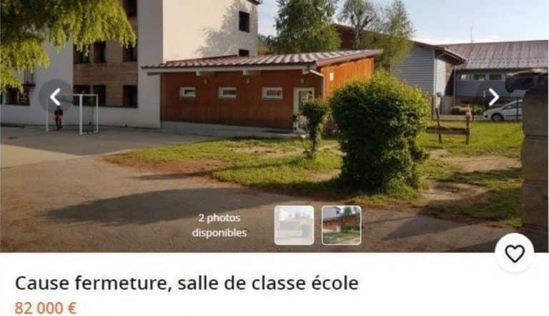 Des parents d'élèves mettent en vente une salle de classe sur Leboncoin pour protester contre sa fermeture