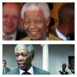 Mandela et Morgan Freeman