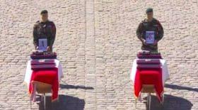 Hommage national aux deux soldats français morts