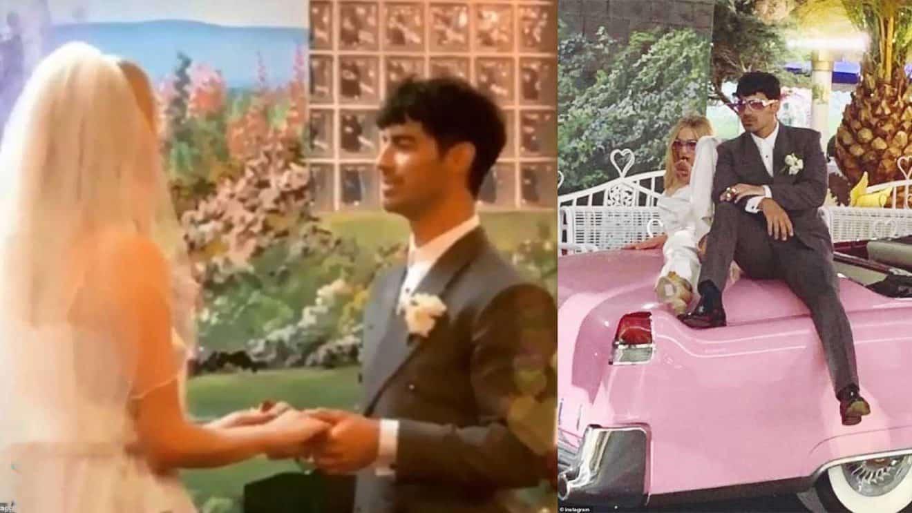 Surprise  Sophie Turner et Joe Jonas se sont mariés devant un sosie  d\u0027Elvis à Las Vegas (VIDEO)