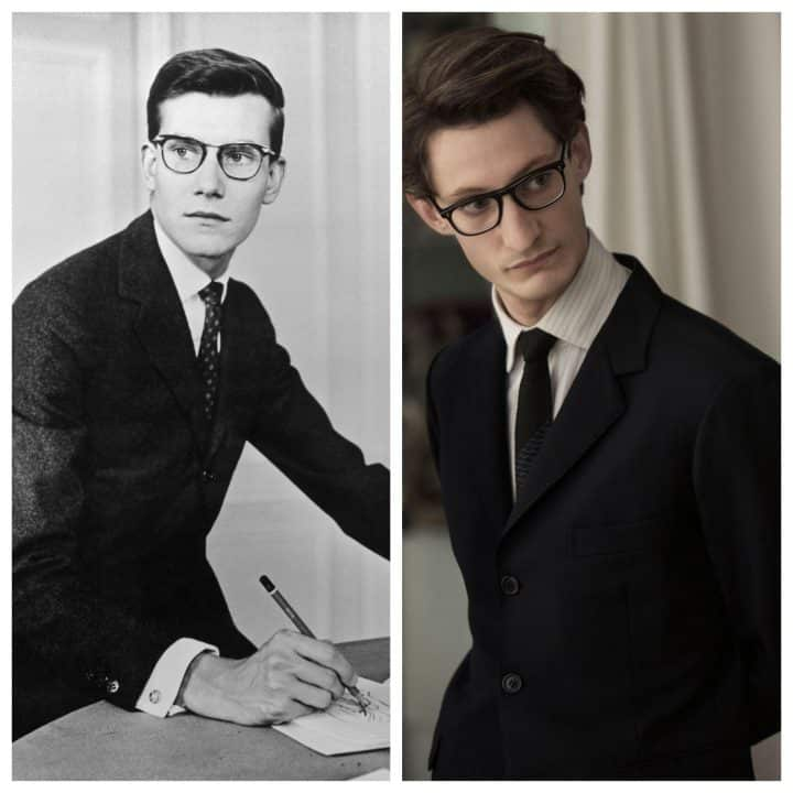 Yves Saint Laurent et PIerre Niney