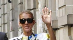 Céline Dion affole les parisiens en body multicolore