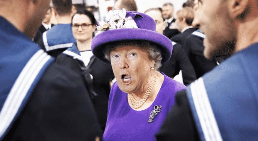 Et si Trump se refaisait une petite beauté pour devenir… la reine d'Angleterre ? Ces photos sont hilarantes !