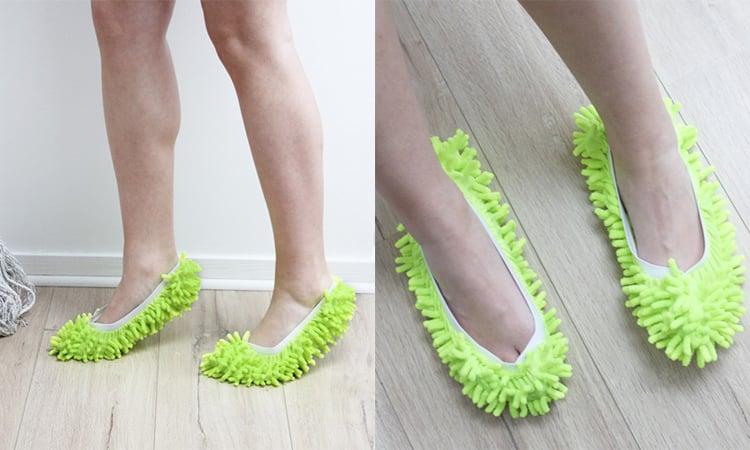 Ces chaussons serpillères vous permettront de faire le ménage en moonwalk !