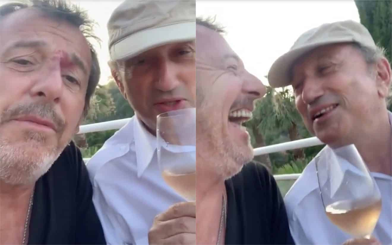 Michel Drucker et Jean-Luc Reichmann bien alcoolisés en Corse, la vidéo qui amuse les internautes