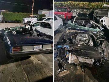 Kevin Hart, voiture à la suite de l'accident