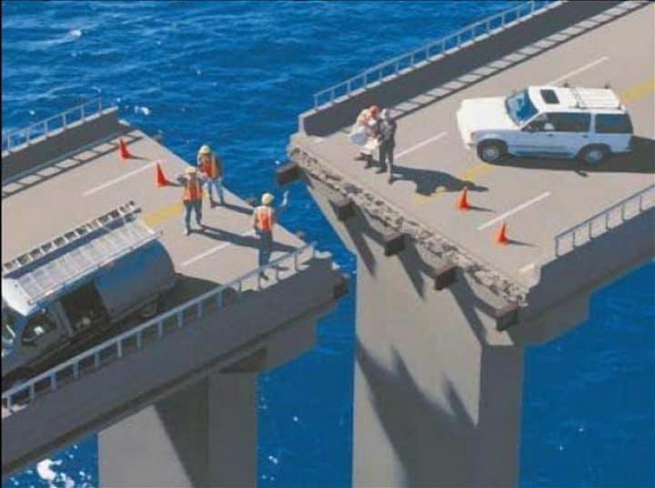 mauvais alignement pont