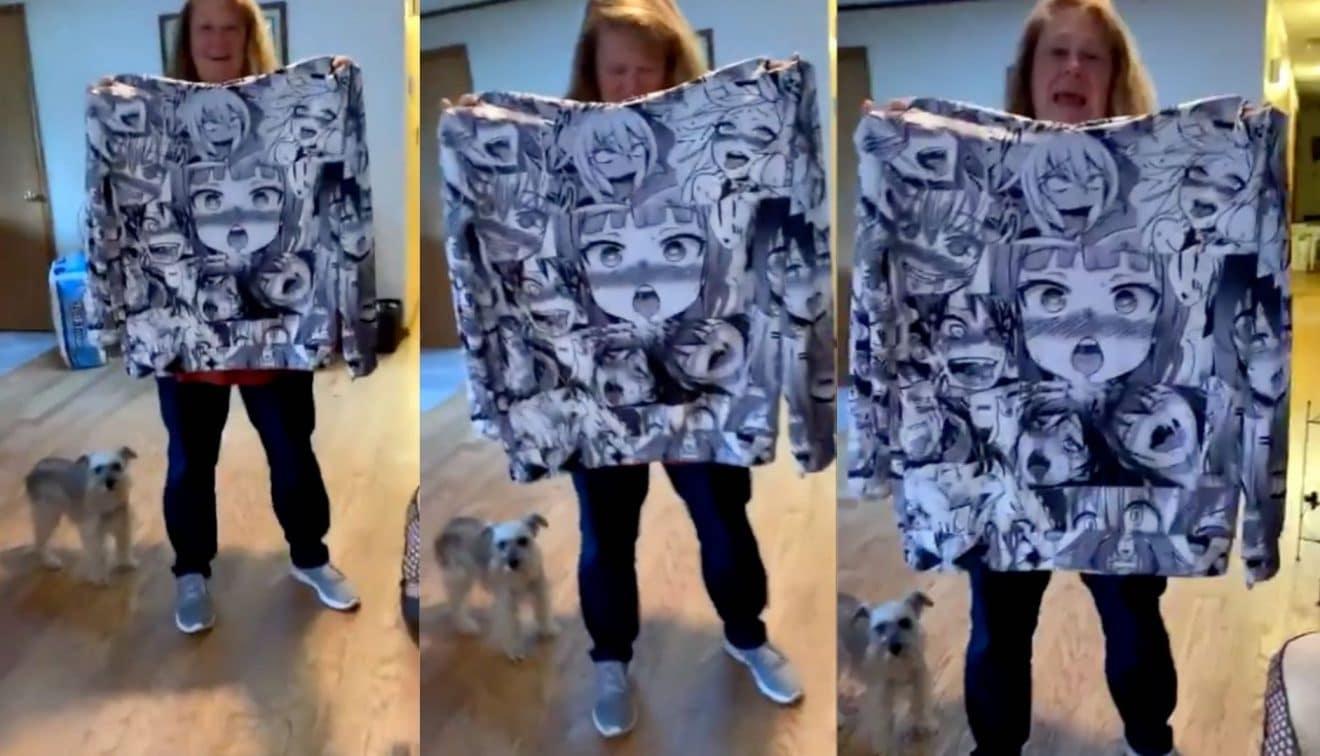Cette femme offre un pull avec des dessins obscènes à sa fille ! (Vidéo)