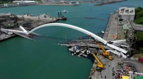 effondrement pont taiwan