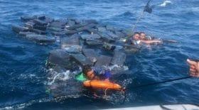 Trois trafiquants de drogue retrouvés en pleine mer