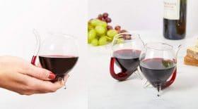 Verre à vin pailles