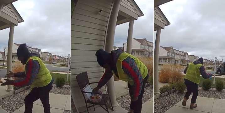 Elle laisse des friandises devant sa porte pour remercier un employé Amazon, sa réaction est juste géniale ! (Vidéo)