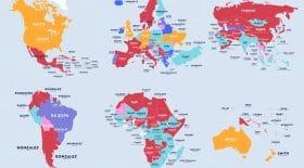carte du monde nom de famille