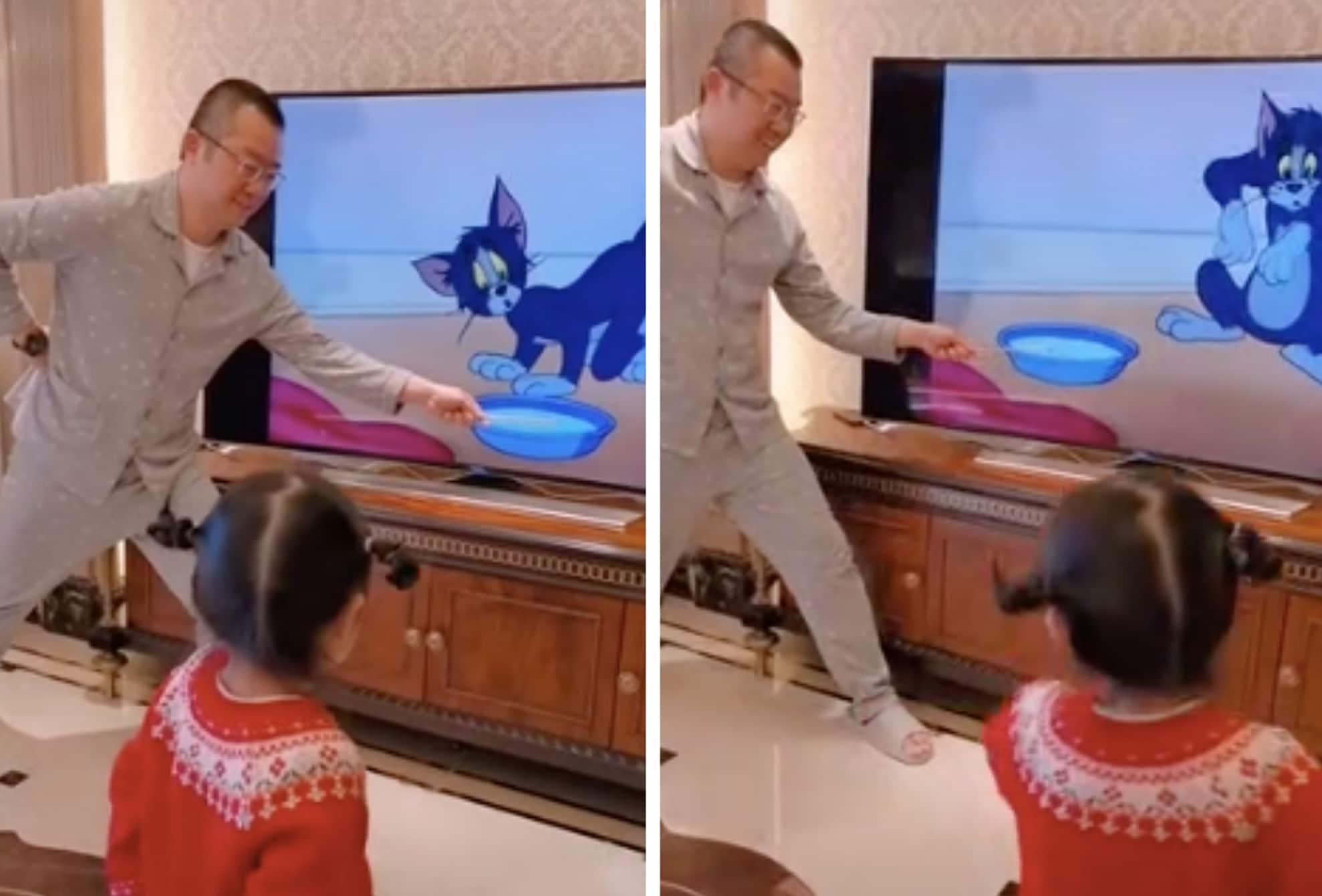 Ce papa fait un tour de magie qui va vous laisser sans voix (vidéo)
