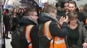 conductrice RATP non gréviste contre grévistes