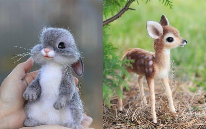 Vous allez tomber amoureux de ces petites figurines d'animaux en laine