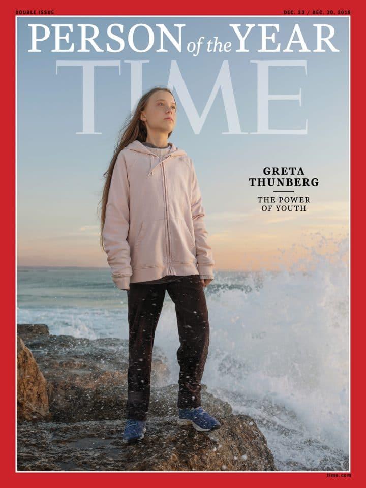 Couverture du Time avec Greta Thunberg
