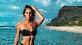 iris mittenaere sexy bikini detail intrigue