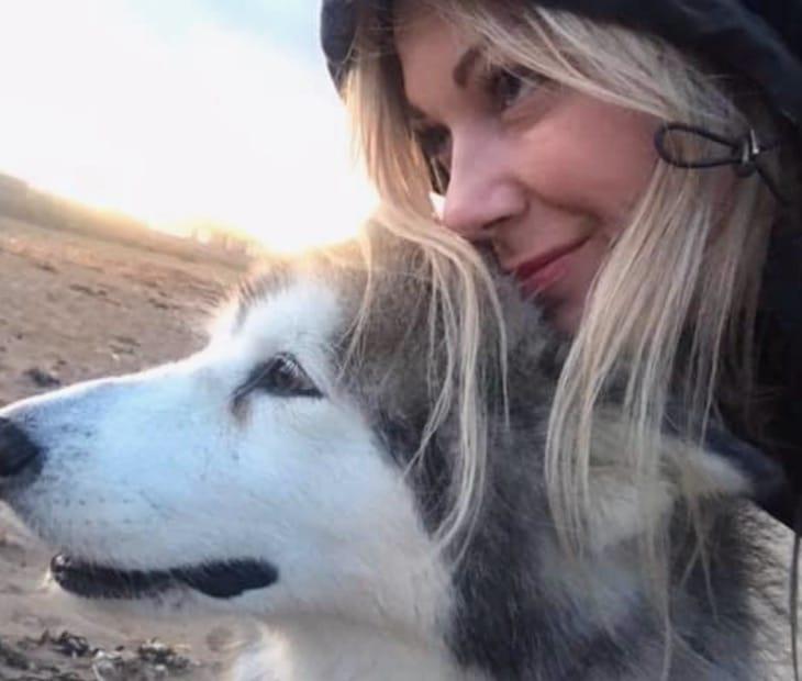 Lorsqu'elle a appris que sa chienne Malamute devait être euthanasiée, elle a pris une décision radicale