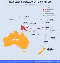 nom de famille océanie